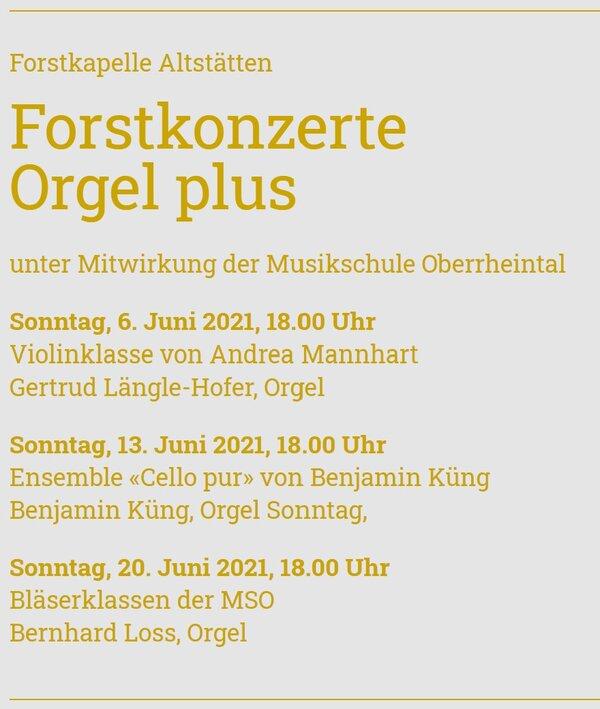 Forstkonzerte Orgel plus